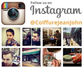 Follow us on Instagram - @CoiffureJeanJohn
